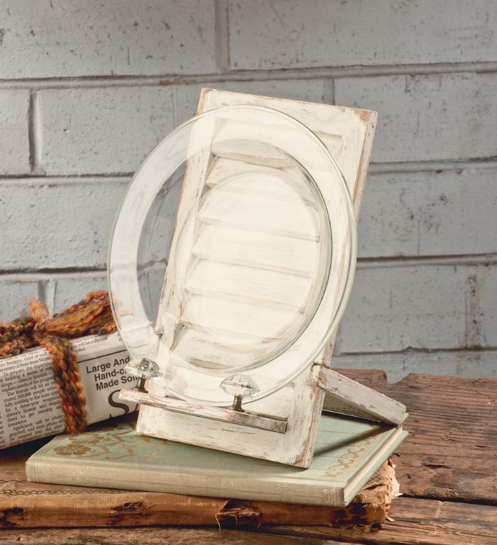 Display Easel Shabby Chic Cream Shutter Set Of 3