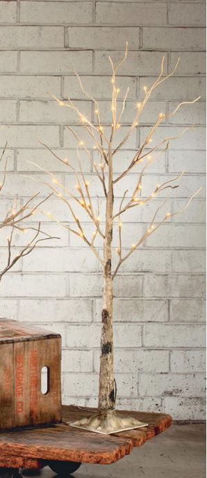 Display Tree - Medium Lighted Brown Birch