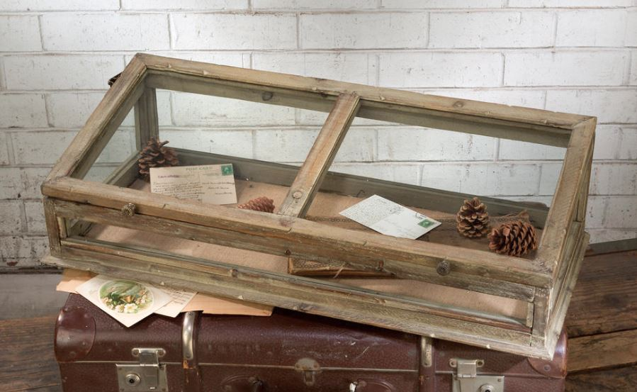 Display Case - Vintage Style Table Top Shadow Box