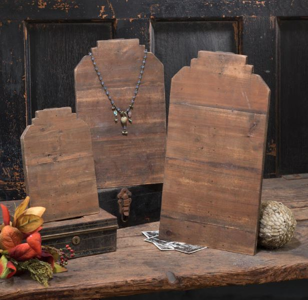 Neck Form Display Stands - Reclaimed Wood - Set of 4