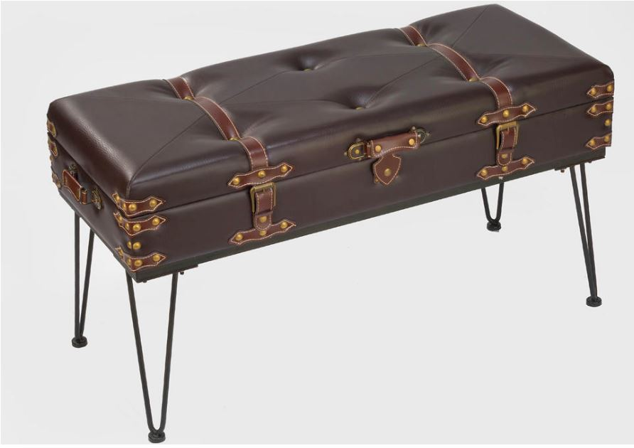 Accent Table - Large Padded Suitcase Bench