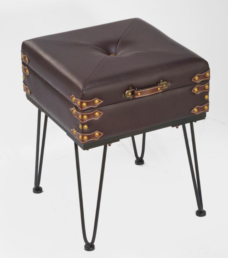 Accent Table   Small Padded Suitcase Bench