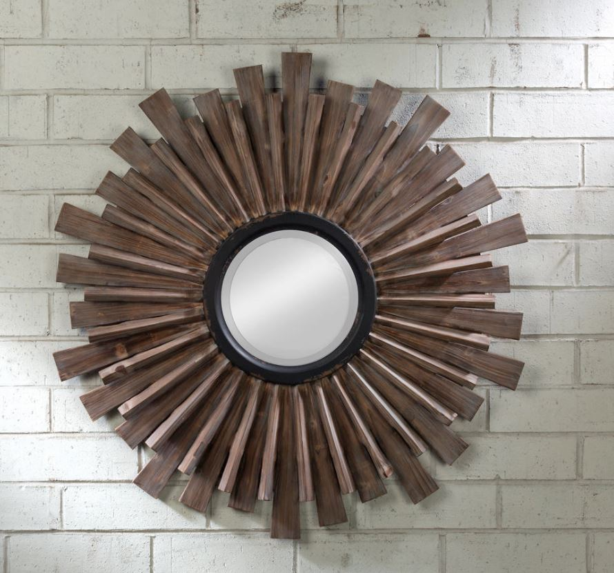 Wall Mirror - Starburst Multidimensional Wood
