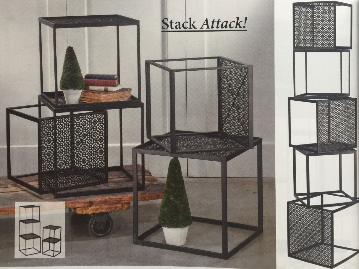 Riser Cubes - Black Stackable Set