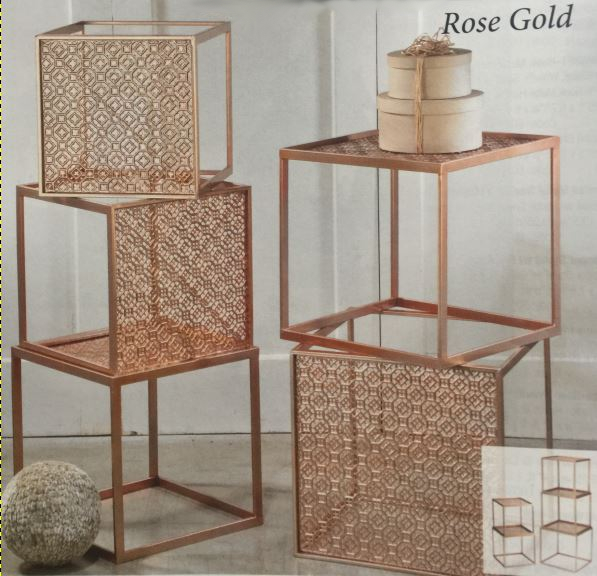 Riser Cubes - Rose Gold Stackable Set