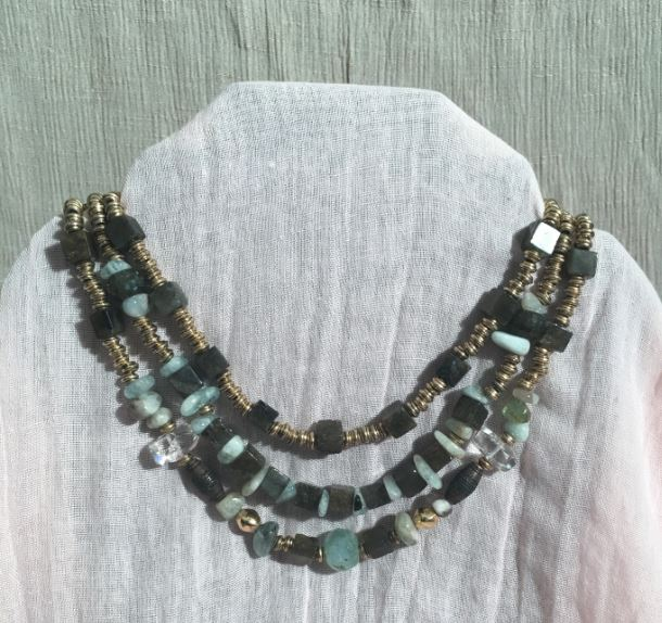 Circa 1910 River of Tears Bib Necklace