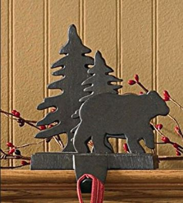 Stocking Holders - Bear With Tree