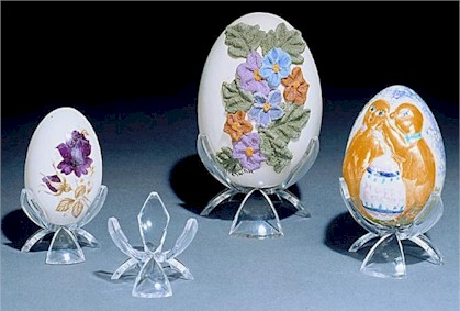Tulip Shaped Egg Stands - Set of 12