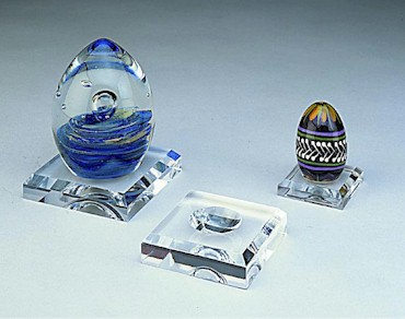 Lucite Egg and Ball Holders - Dozen Pack Size