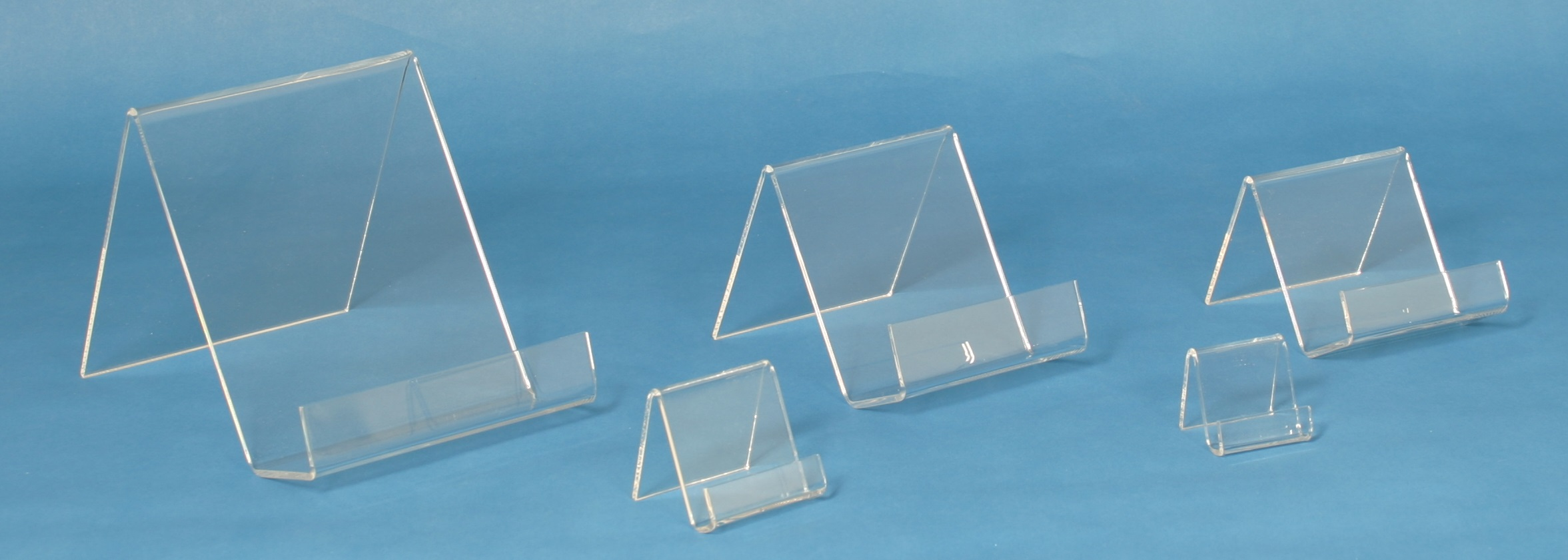 Lucite Flat Bottom Easels - 12 Pack