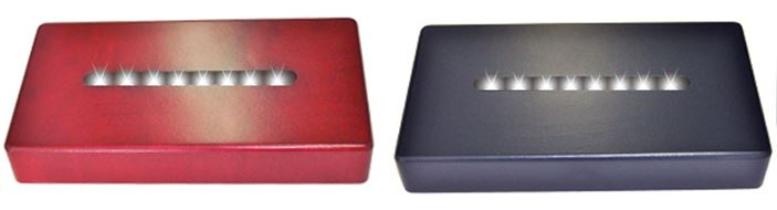 "Light Bases - Cherry or Black Rectangular - 6"" Standard"