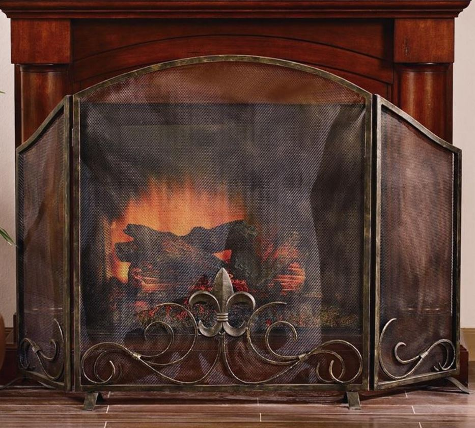 Fireplace Screen - Fleur de Lis