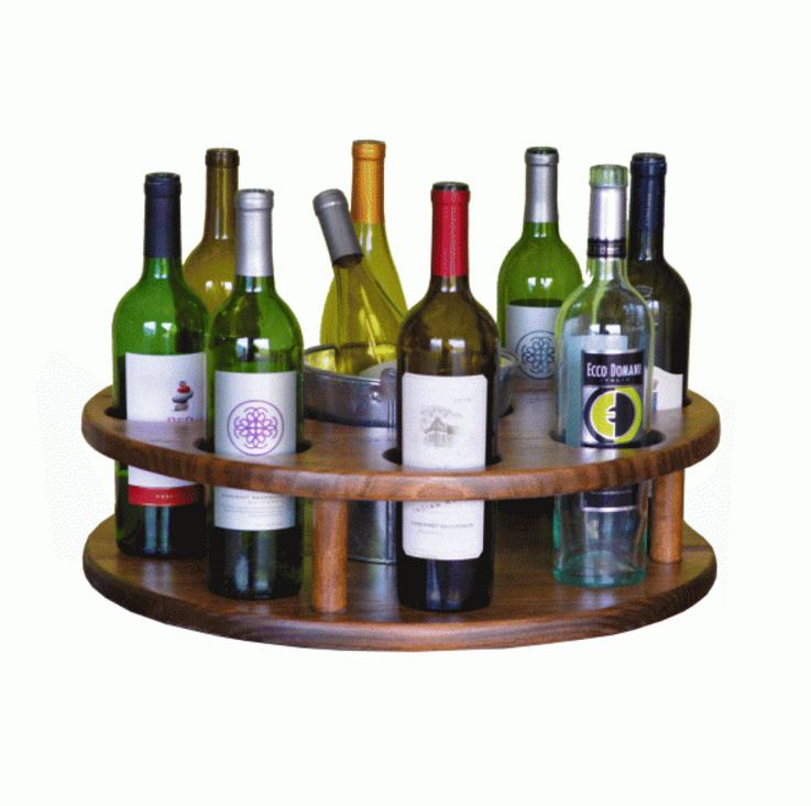 Wine Rack - Eight Bottle Carousel with Bucket