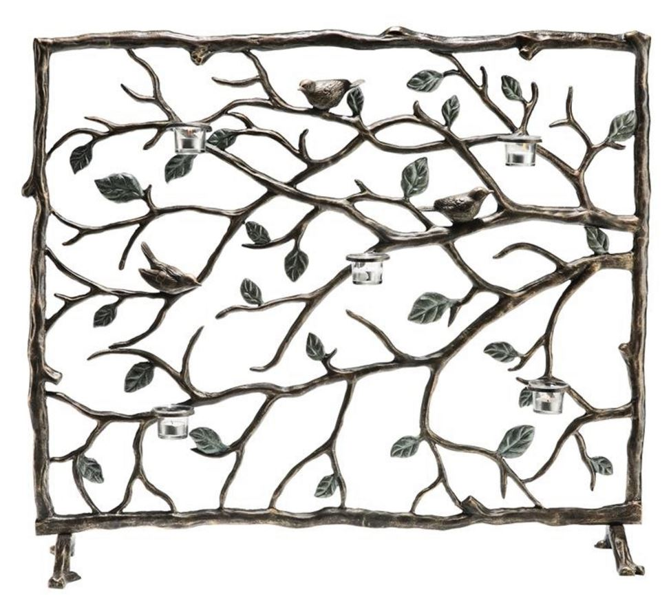 Fireplace Screen - Bird and Branch
