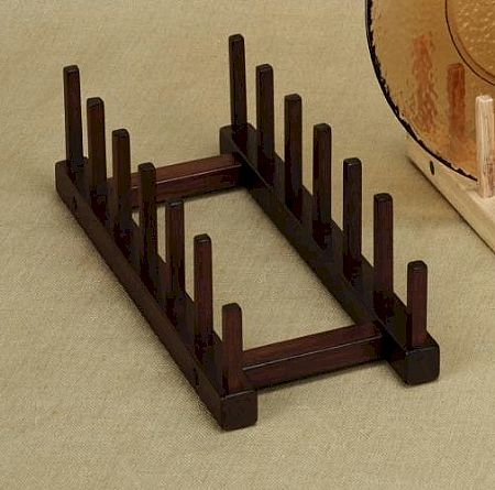 Plate Holders - Walnut - Tabletop Six Place