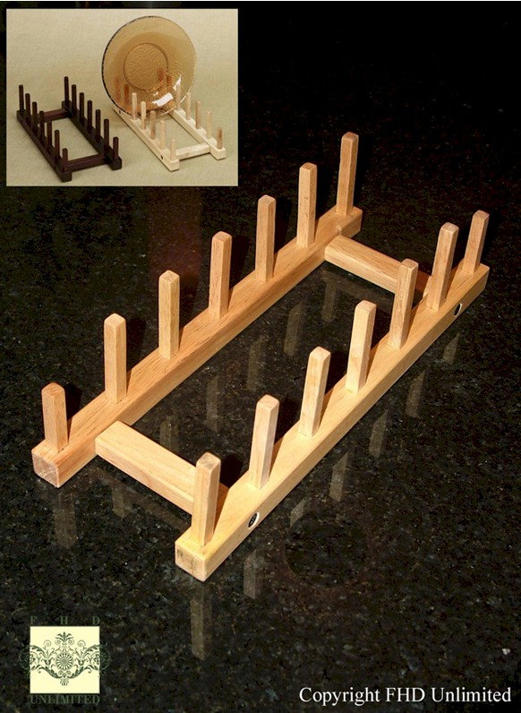 Plate Holders - Oak - Tabletop Six Place - Set of 4