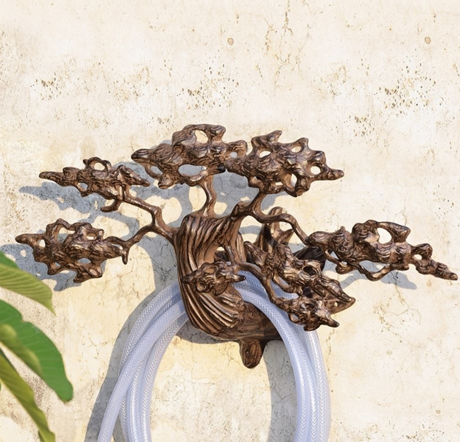 Wall Mounted Hose Holder - Elegant Cypress Tree