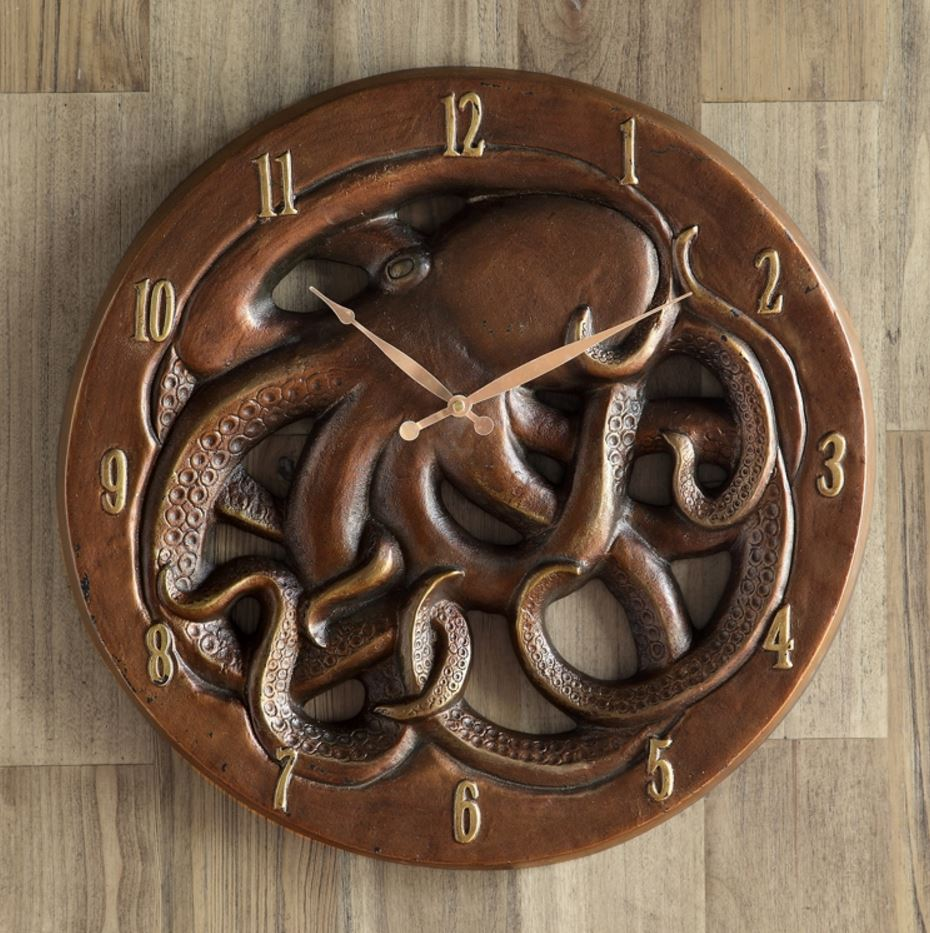 Wall Clock - Decorative Octopus
