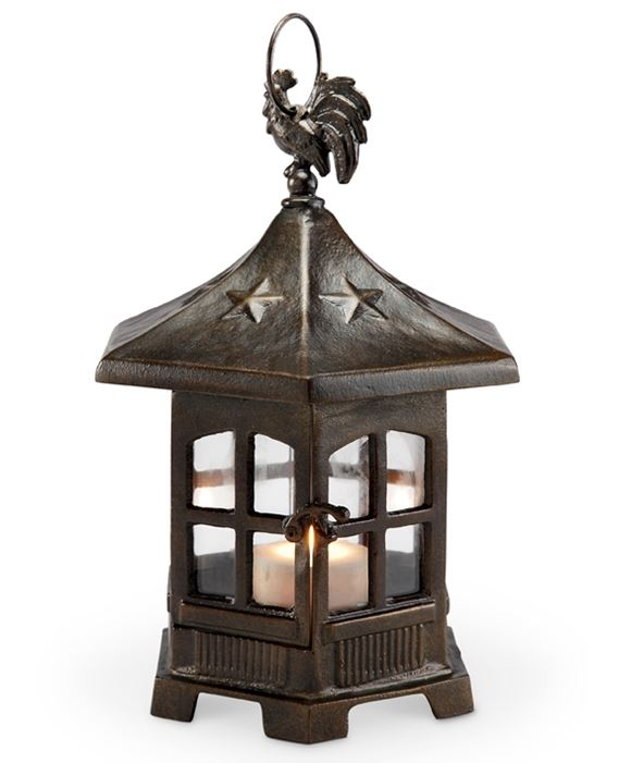 Candle Lantern - Rooster on Cupola