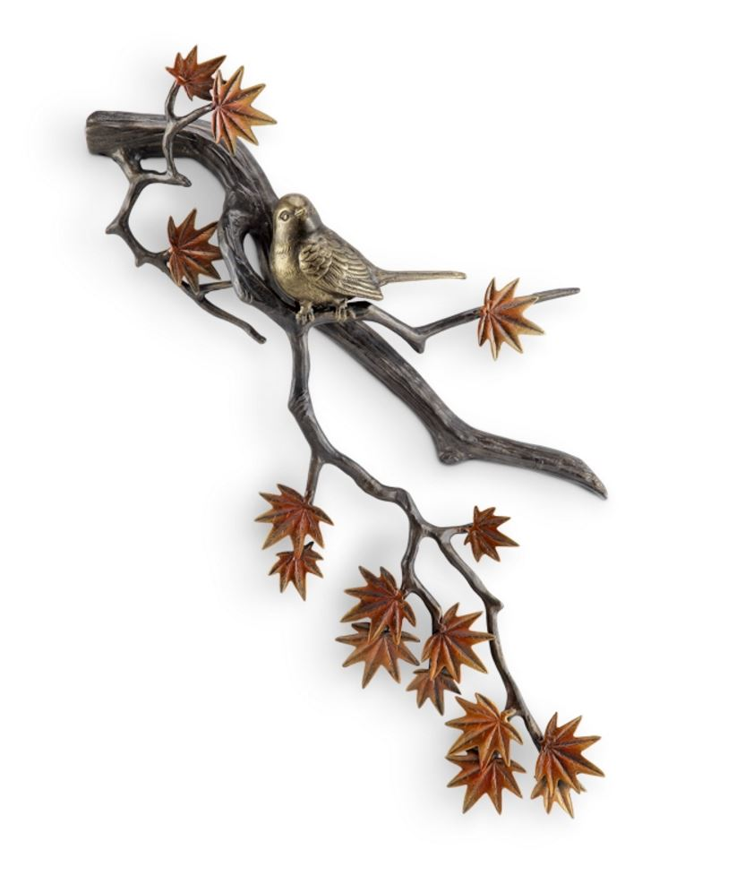Wall Hanging - Bird on Japanese Maple Branch