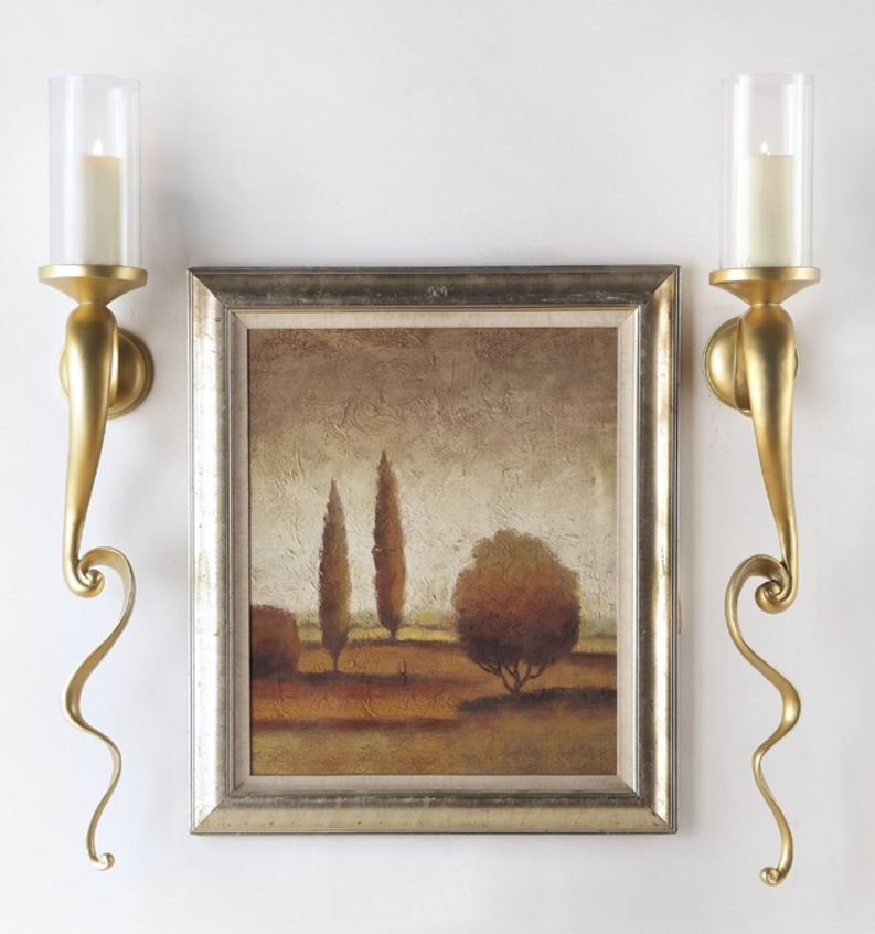 Candle Holders - Gilded Vine Sconces