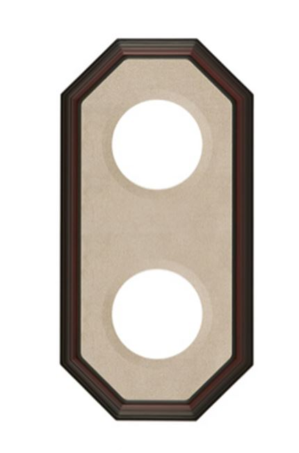 "Plate Frames - Octagon for  4"" to 7"" Plates Double Vertical"