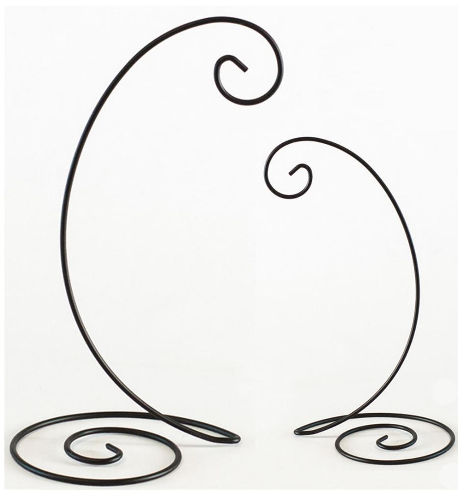 Ornament  Stands - Black Spiral Bottom - Set of 12