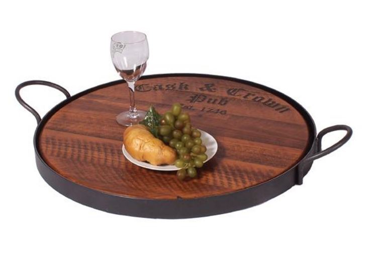 Display Tray - Wrought Iron and Wood Riser Tray