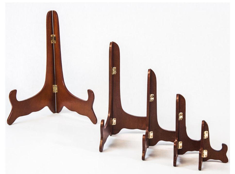 Plate Easels - Economy Hinged Wood Walnut - Set of 12 & Plate Stand Plate Stands Plate Easel u0026 Plate Easels u2013 Fine Home ...