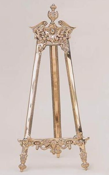Platter u0026 Plate Easels - Decorative Brass Stands : metal plate holder stand - pezcame.com