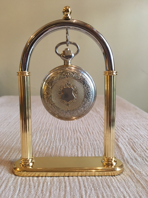 Pocket Watch Holder - Decorative Brass Full Arch