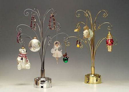 Ornament Trees - Rotating Tabletop Curled Branch - Set of 2