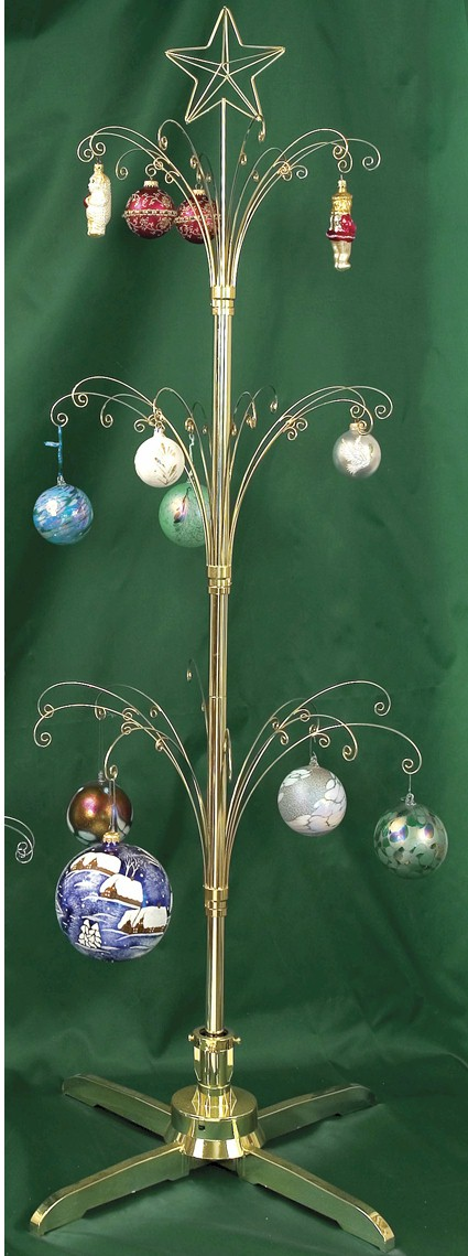 "Ornament Trees - Rotating Large - 60"" Curled Branch With Star"