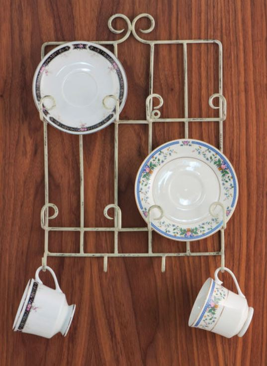 Cup and Saucer Hanger - Stacked Four Place - Set of 2