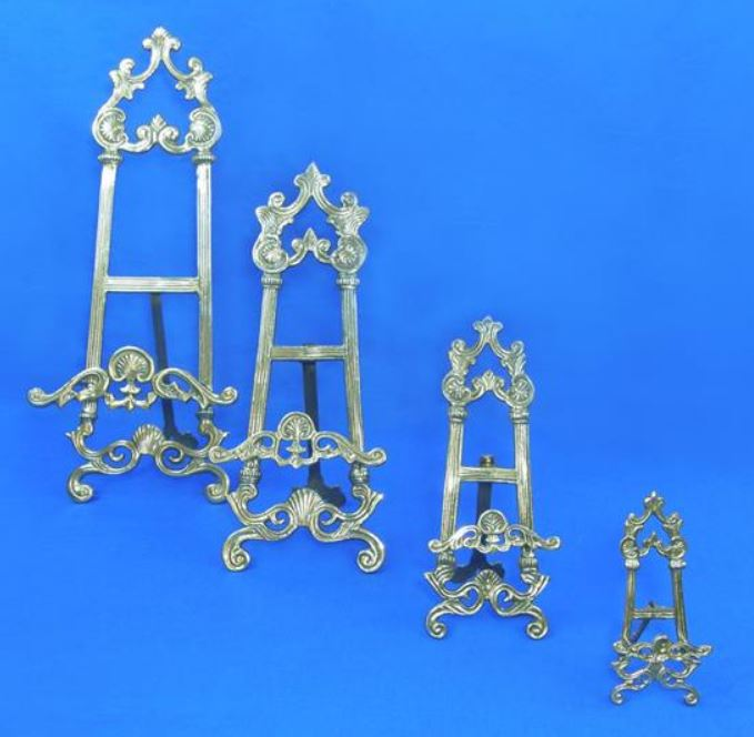 Plate& Platter Easels - Ornate Brass Stands