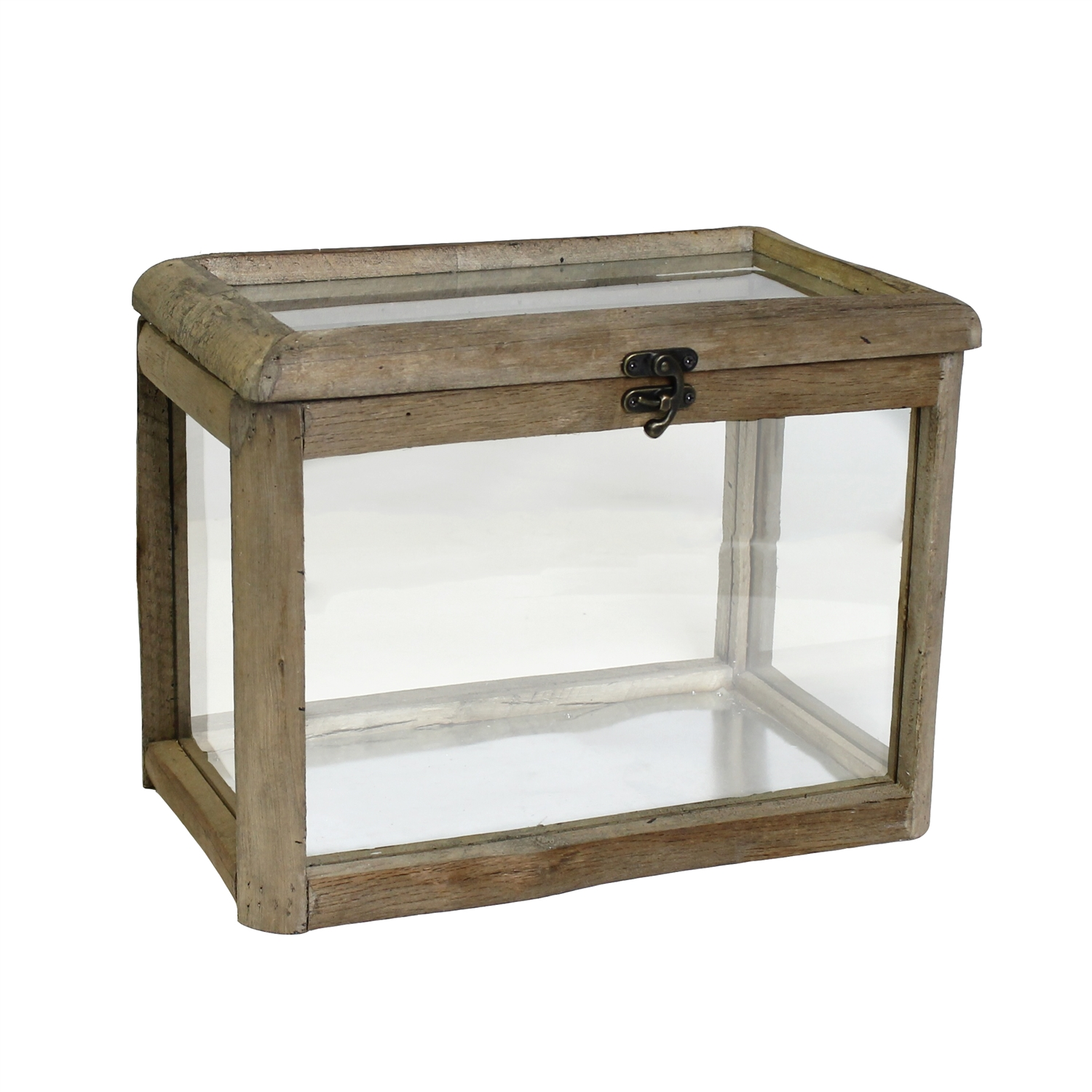 Display Case - Wood and Glass Hinged Display Case