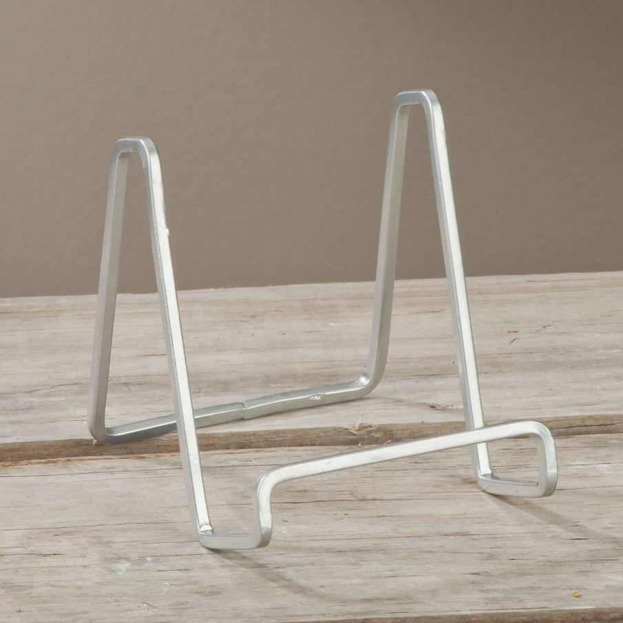 Plate Easels - Silver Square Wire - Set of 12
