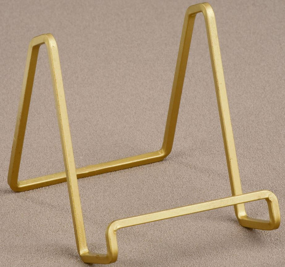 Plate Easels - Gold Square Wire - Set of 12