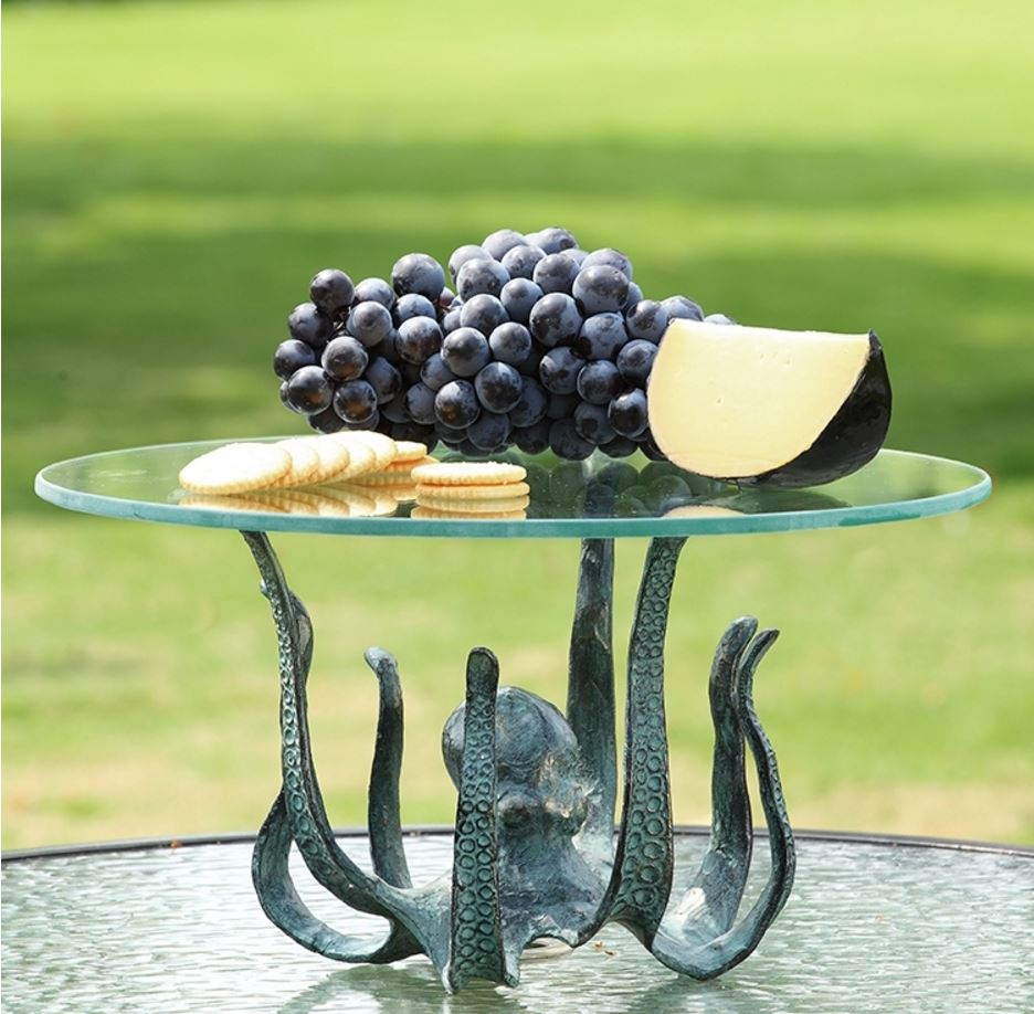 Table Server - Iron & Glass Octopus Tray