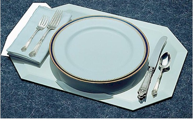 Mirror Displays - Octagon Elongated Placemat Beveled Edge