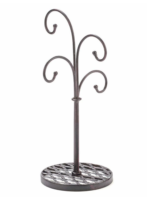 Ornament Tree Stand - Modern Four Arm Hanger - Set of 2