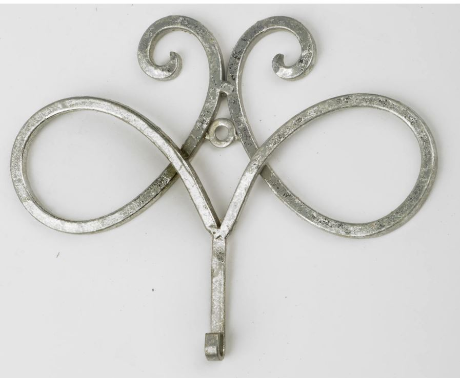 Frame Holders - Silver Swirl Wall Hangers - Set of 6