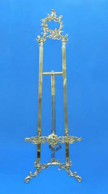 "Floor Easel - Ornate Brass 55"" or 71"" Tall"