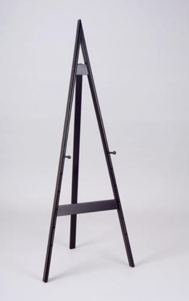 Floor Easel - Adjustable Black Wood 58""