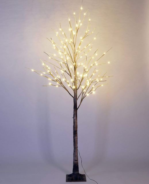 Display Tree - Extra Large Lighted Brown Birch