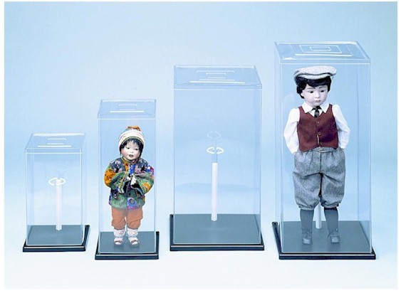 Display Cases - Plastic Doll Covers with Stand