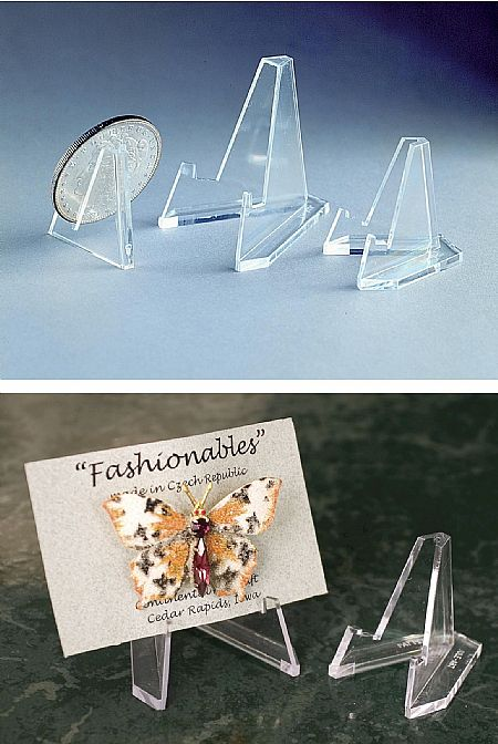 Plate Holders - Lucite Triangular Mini Holder - Dozen & Plate Holders - Lucite Triangular Mini Holder - Dozen Plate Easels ...
