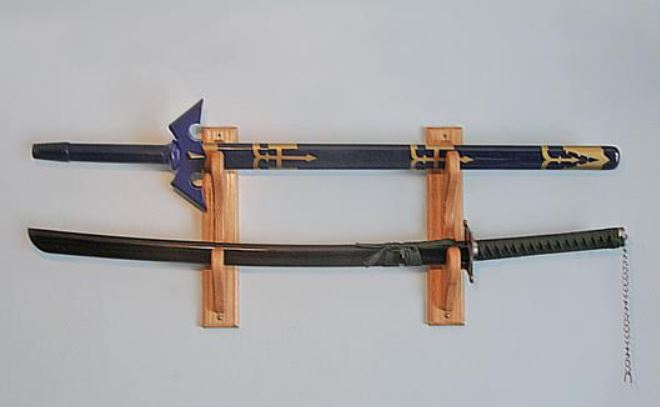 Sword Display - Wood Wall Display Rack