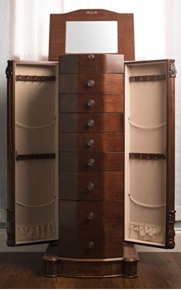 Jewelry Armoire - Rich Walnut