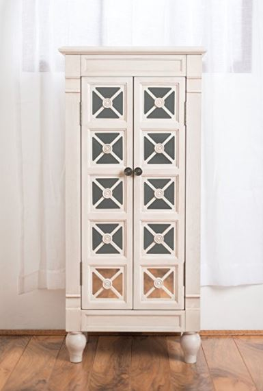 Jewelry Armoire - Classic White